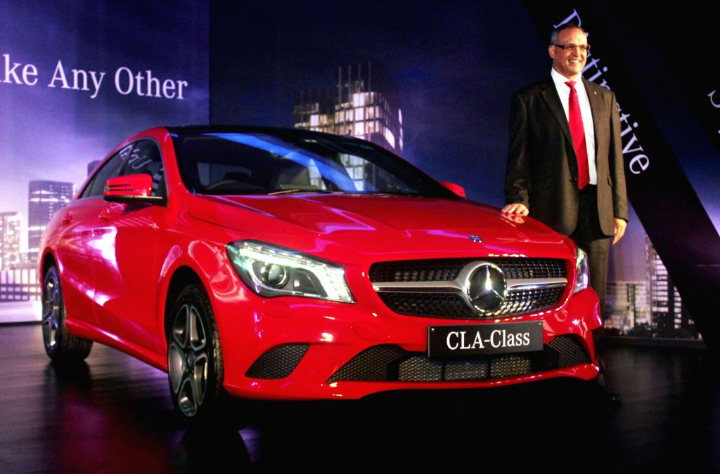 Mercedes-Benz India Managing Director and CEO Eberhard Kern at the launch of `Mercedes-Benz CLA-Class` in New Delhi, on Jan 22, 2015.