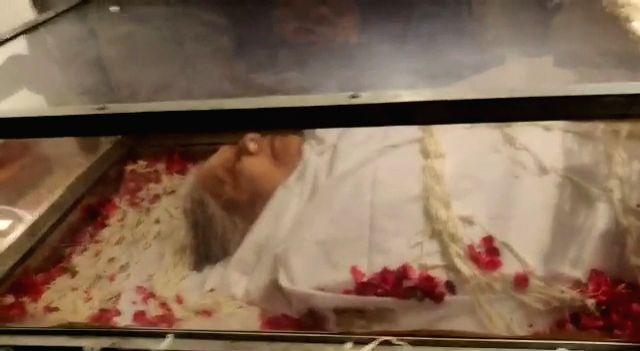 New Delhi: Mortal remains of veteran Congress leader Sheila Dikshit who passed away at a hospital in New Delhi on July 20, 2019. (Photo: IANS) - Sheila Dikshit