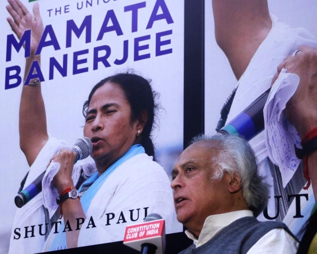 "New Delhi: MP Jairam Ramesh at the launch of Shutapa Paul's book ""Didi: The Untold Mamata Banerjee"" in New Delhi on Dec 12, 2018. (Photo: IANS)"