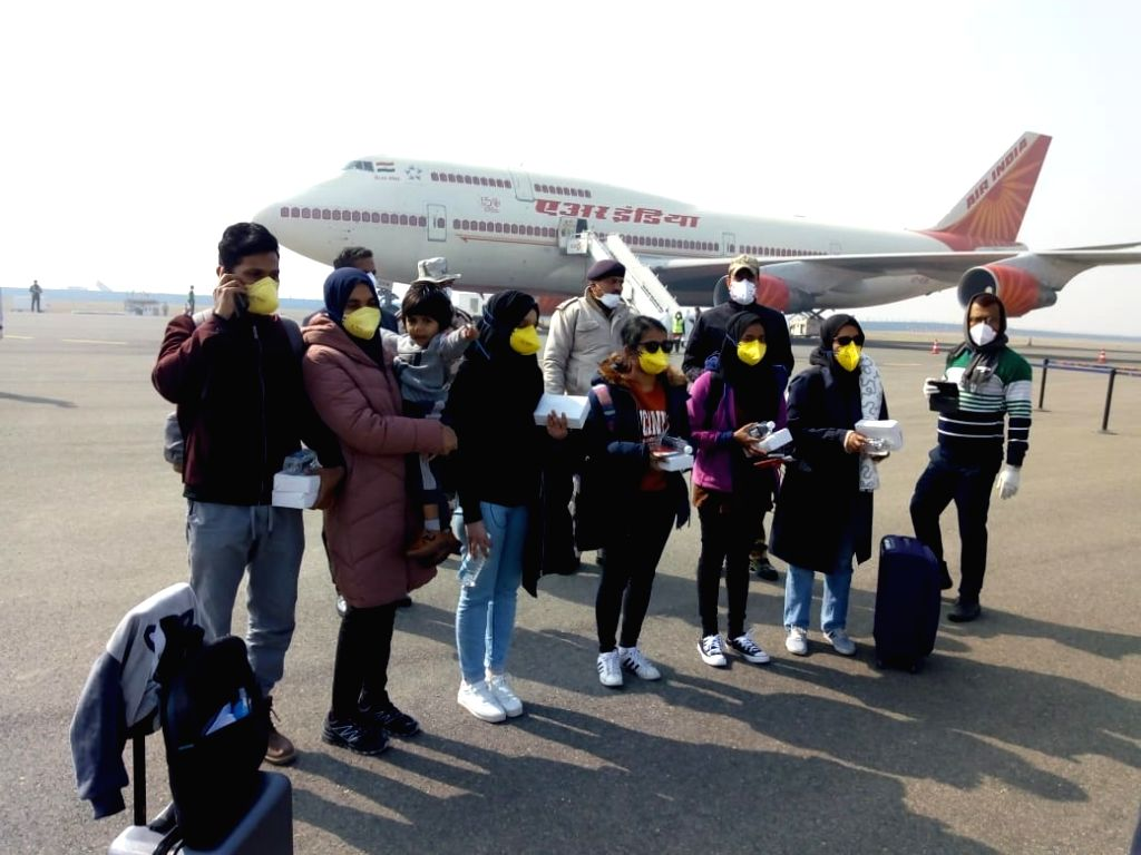 New Delhi: National carrier Air India's second special flight to the Chinese city of Wuhan, the epicentre of the novel coronavirus outbreak, landed at the IGI airport here on Sunday with 323 Indian and seven Maldivian citizens onboard., in New Delhi