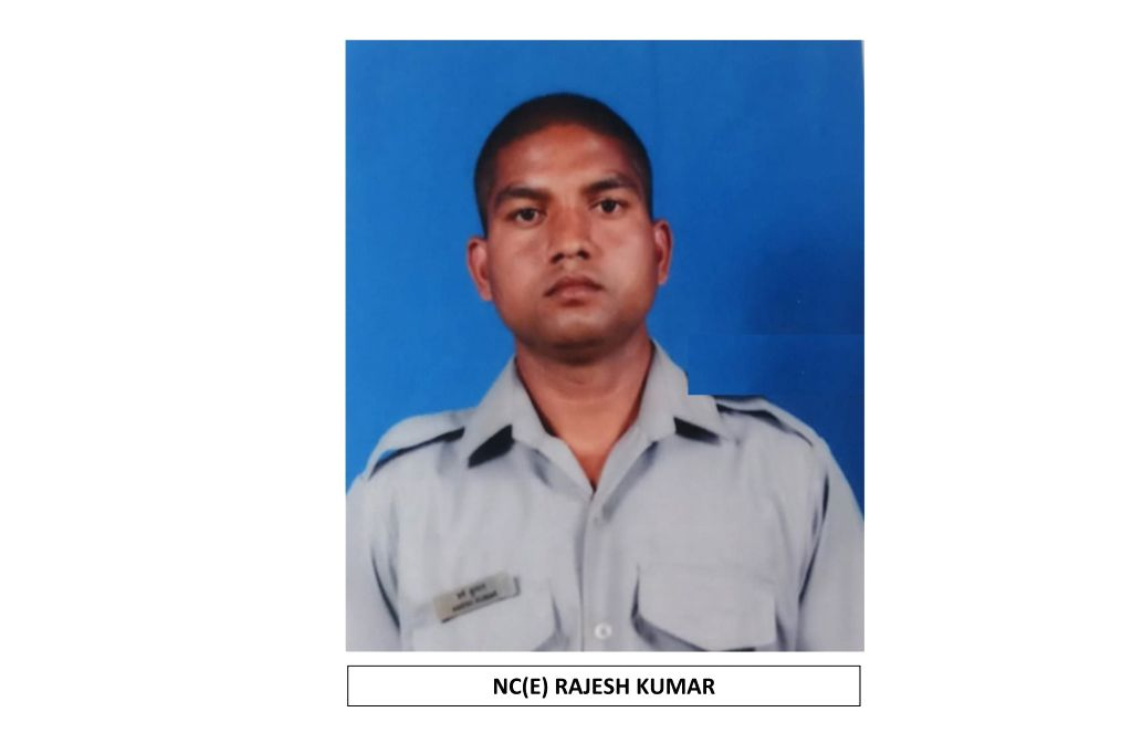 New Delhi: NC(E) Rajesh Kumar one of the 13 persons who died in An-32 aircraft crash in Arunachal Pradesh on June 3. (Photo: IANS/DPRO) - Rajesh Kumar
