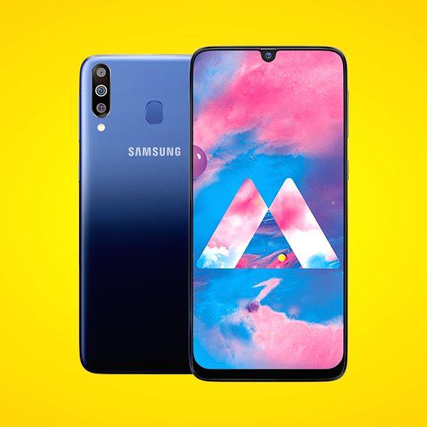 New Delhi: Newly launch Samsung Galaxy M30 smartphone in New Delhi, on Feb 28, 2019. (Photo: IANS)