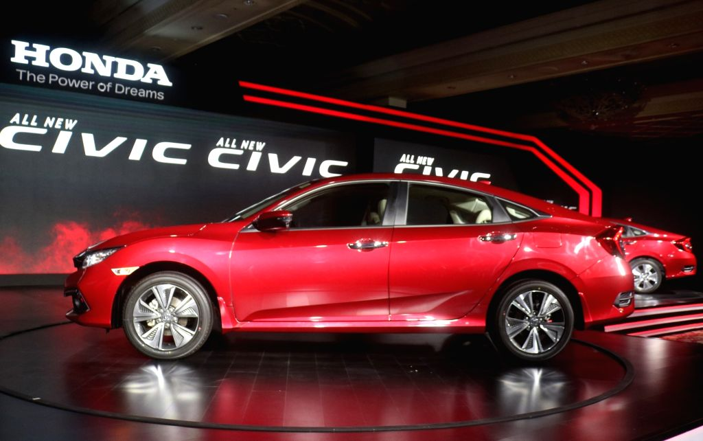 """New Delhi: Newly launched 2019 Honda new """"Civic"""" in New Delhi, on March 7, 2019. (Photo: IANS)"""