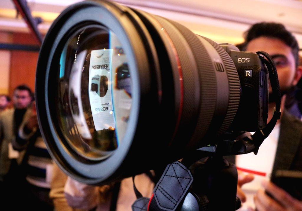 New Delhi: Newly launched Canon EOS RP camera in New Delhi, on Feb 27, 2019. (Photo: IANS)