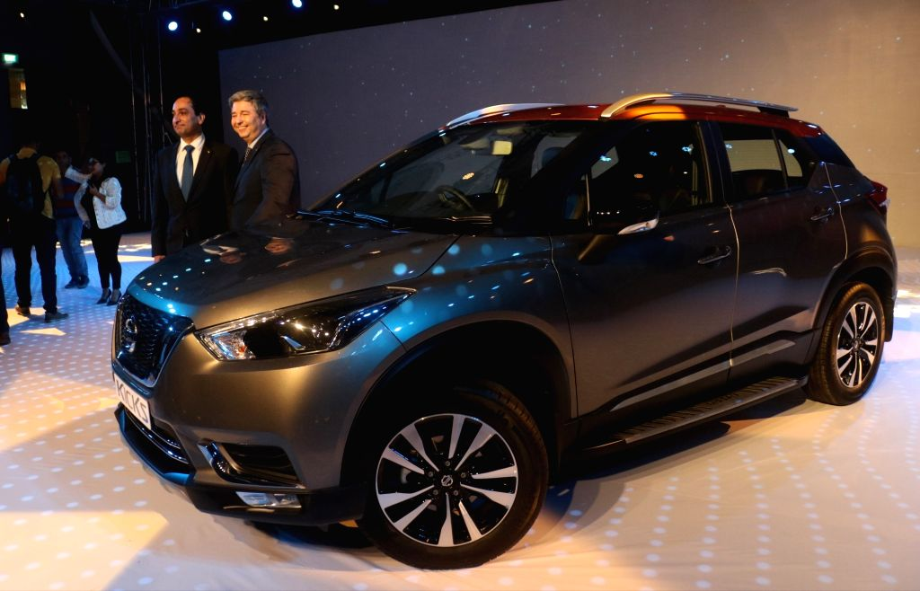 New Delhi:Nissan India President Thomas Kuehl and Nissan Chairman (Africa, West Asia and India) and Senior Vice-President Peyman Kargar at the launch of Nissan Kicks SUV in New Delhi, on Jan 22, 2019.