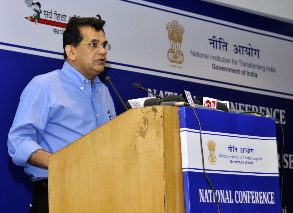 New Delhi:NITI Aayog CEO Amitabh Kant addresses at the National Conference on Good Practices in the Social Sector Service Delivery, in New Delhi on May 23, 2016.