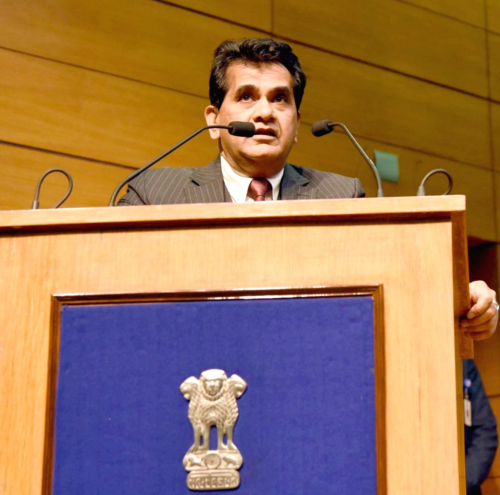 New Delhi: NITI Aayog CEO Amitabh Kant (Photo: IANS/PIB)