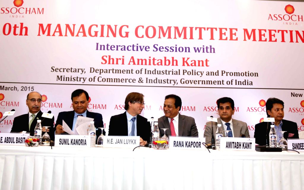 Pakistan High Commissioner to India Abdul Basit, Srei Infra Vice Chairman Sunil Kanoria, Yes Bank MD and CEO Rana Kapoor, Secretary, Department of Industrial Policy and Promotion (DIPP) ... - Kapoor