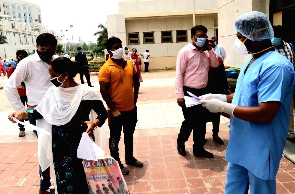 New Delhi: Patients at the Rajiv Gandhi Super Speciality Hospital amid COVID-19 pandemic, in New Delhi on July 9, 2020. (Photo: IANS)