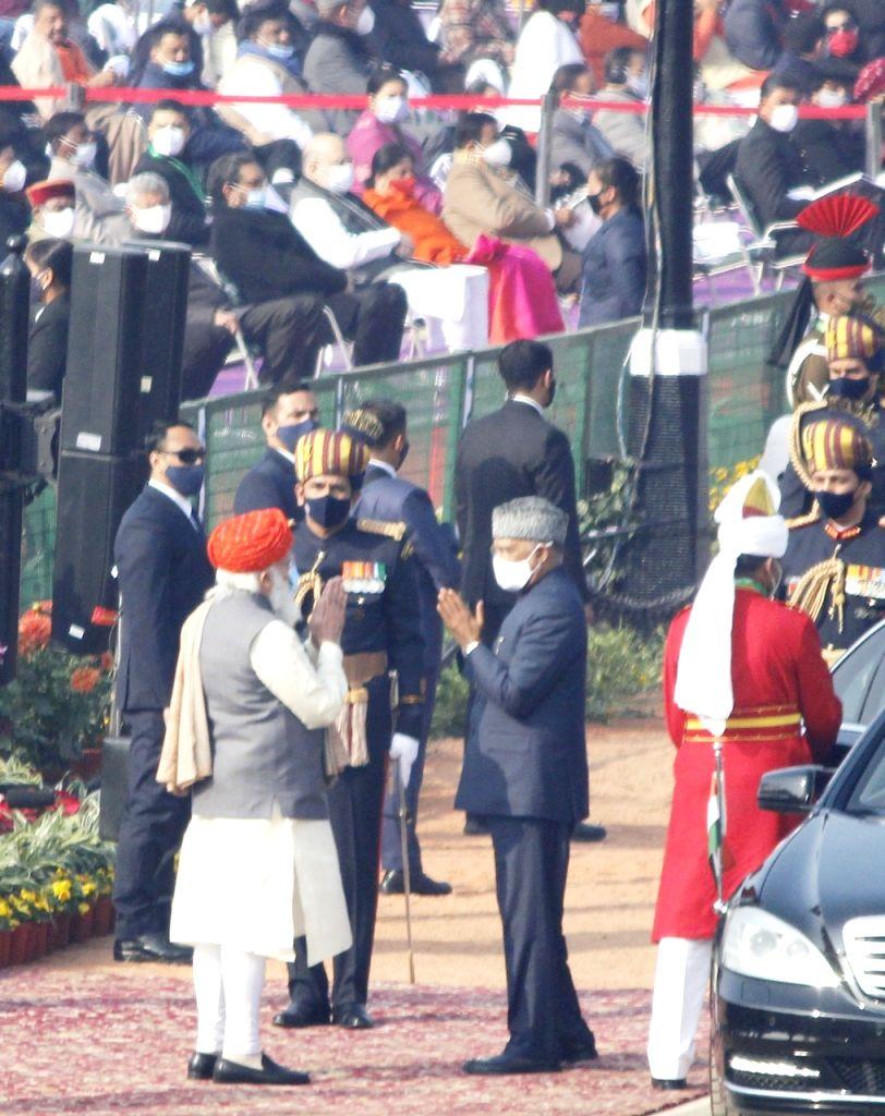 New delhi: PM Modi during 72 Republic Day celebration in New Delhi On Tuesday.