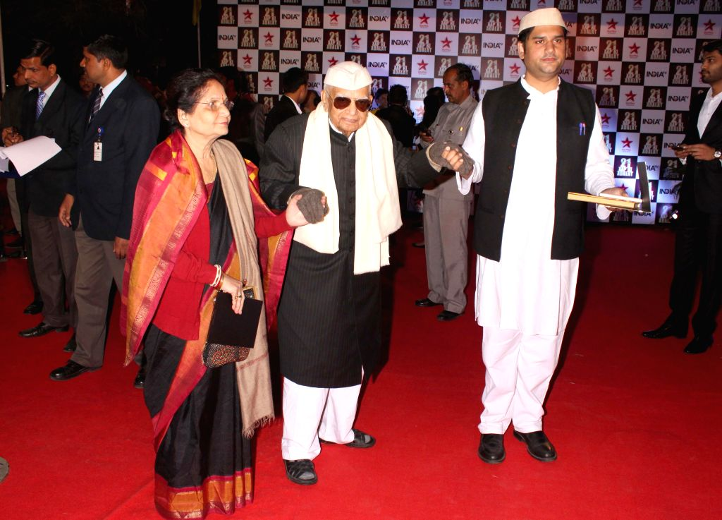 Politician N D Tiwari during a programme organised to celebrate 21 years of a `Aap Ki Adalat` a TV show at Pragati Maidan in New Delhi on Dec 2, 2014.