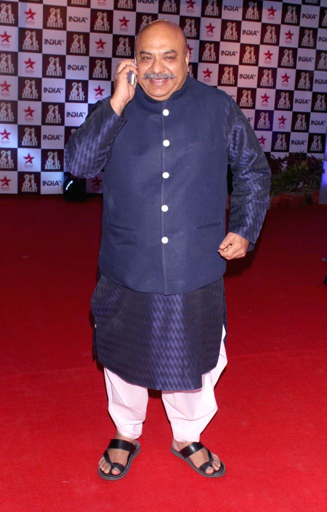 Politician Sudhanshu Mittal during a programme organised to celebrate 21 years of a `Aap Ki Adalat` a TV show at Pragati Maidan in New Delhi on Dec 2, 2014.