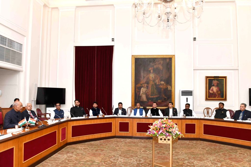 New Delhi: President Ram Nath Kovind addresses a delegation of Members of Parliament and political leaders from Bangladesh, at Rashtrapati Bhavan in New Delhi on March 12, 2019. (Photo: IANS/RB) - Nath Kovind