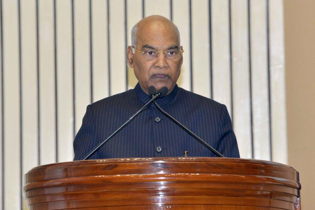 New Delhi: President Ram Nath Kovind addresses at the Human Rights Day function, organised by the National Human Rights Commission, in New Delhi on Dec 10, 2019. (Photo: IANS/RB) - Nath Kovind