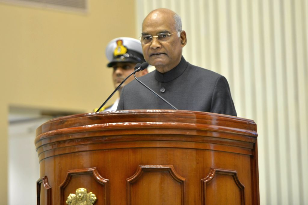New Delhi: President Ram Nath Kovind addresses during CSIR Foundation Day programme, in New Delhi on Sep 26, 2019. (Photo: IANS) - Nath Kovind