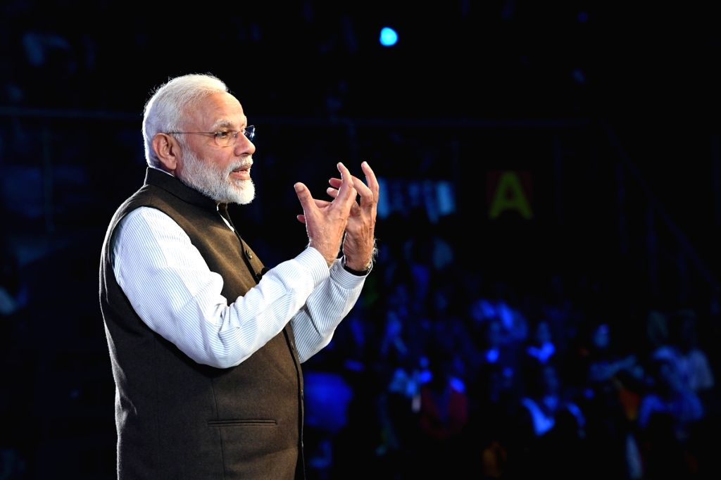 New Delhi: Prime Minister Narendra Modi addresses at ''Pariksha Pe Charcha 2.0'' programme in New Delhi, on Jan 29, 2019. (Photo: IANS/PIB) - Narendra Modi