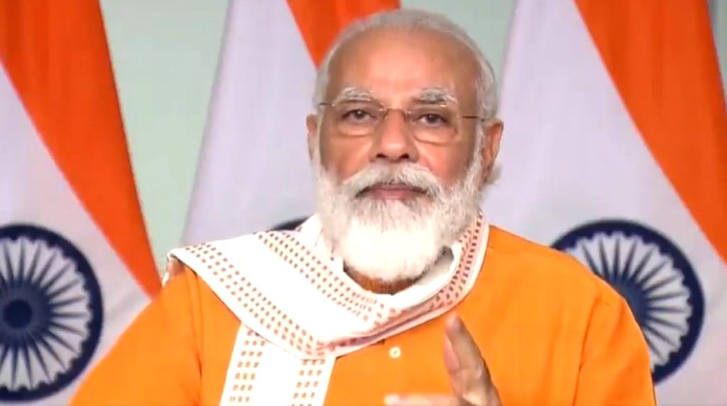 New Delhi: Prime Minister Narendra Modi addresses at the Grand Finale of Smart India Hackathon 2020, in New Delhi on Aug 1, 2020. (Photo: IANS/PIB) - Narendra Modi
