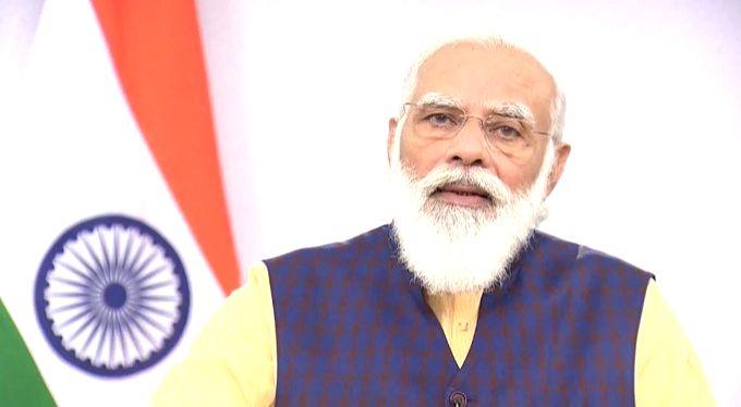 New Delhi: Prime Minister Narendra Modi addresses at the inaugural ceremony of the India Energy Forum, in New Delhi on Oct 26, 2020. (Photo: IANS) - Narendra Modi