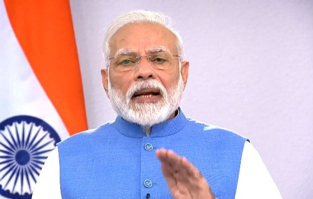 New Delhi: Prime Minister Narendra Modi addresses to the nation on novel coronavirus comes, in New Delhi on March 19, 2020. (Photo: IANS/BJP) - Narendra Modi