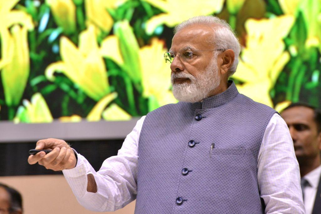 New Delhi: Prime Minister Narendra Modi at Construction Technology India 2019, in New Delhi on March 2, 2019. (Photo: IANS) - Narendra Modi