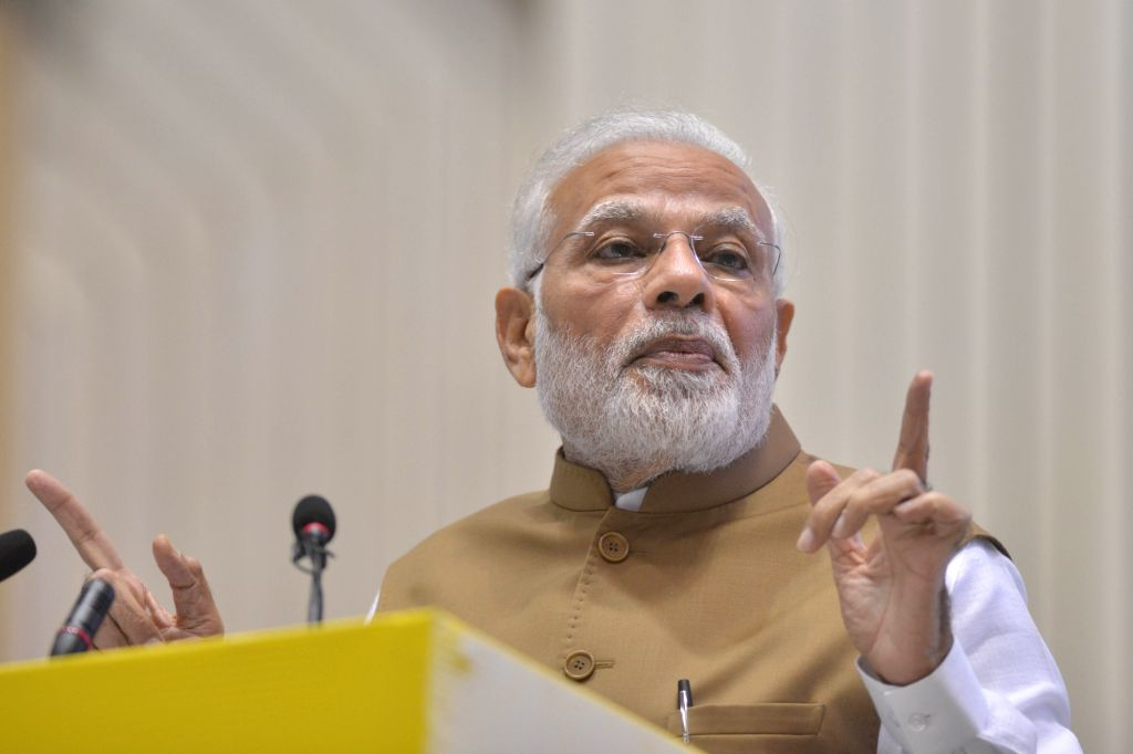 New Delhi: Prime Minister Narendra Modi at the launch of MSME Support and Outreach Programme in New Delhi on Nov 2, 2018. (Photo: IANS) - Narendra Modi