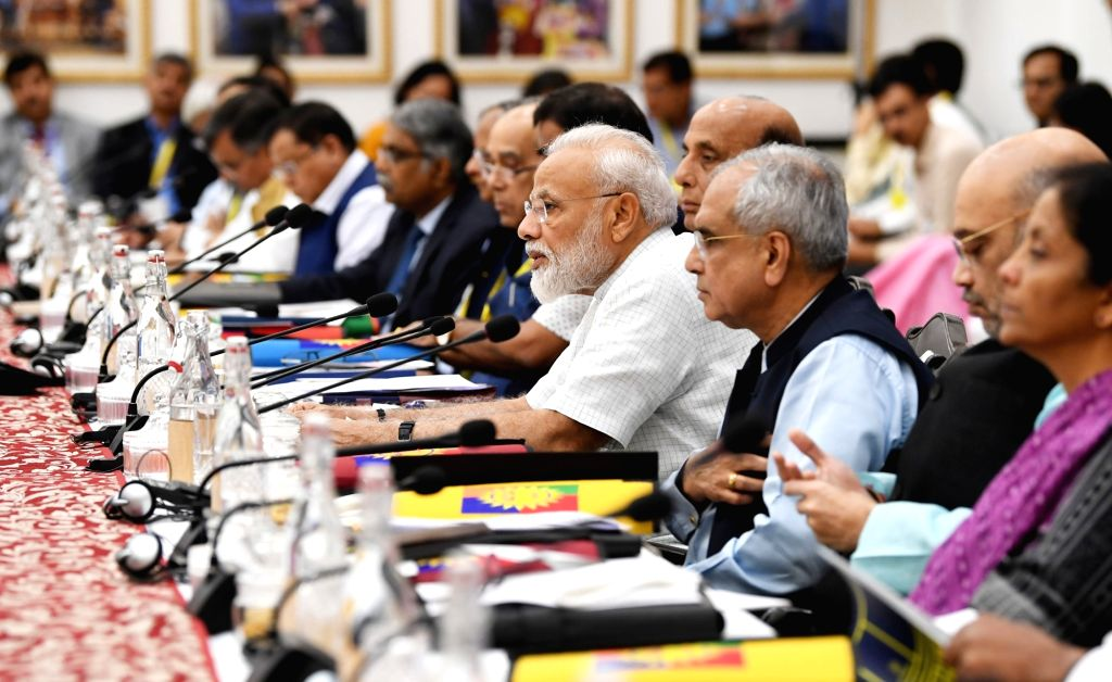 New Delhi: Prime Minister Narendra Modi chairs the fifth meeting of the Governing Council of NITI Aayog, in New Delhi on June 15, 2019. (Photo: IANS/PIB) - Narendra Modi