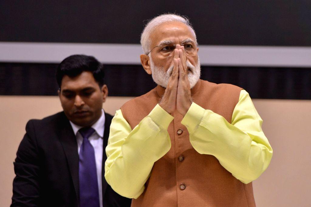 New Delhi: Prime Minister Narendra Modi during an award ceremony to present Shanti Swarup Bhatnagar Award for years 2016/17&18 at Vigyan Bhawan in New Delhi on Feb 28, 2019. (Photo: IANS) - Narendra Modi