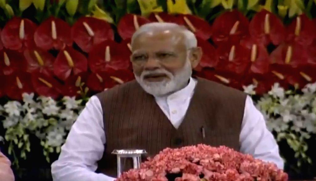 New Delhi: Prime Minister Narendra Modi during the NDA Parliamentary Board meeting at Parliament in New Delhi on May 25, 2019. (Photo: IANS) - Narendra Modi