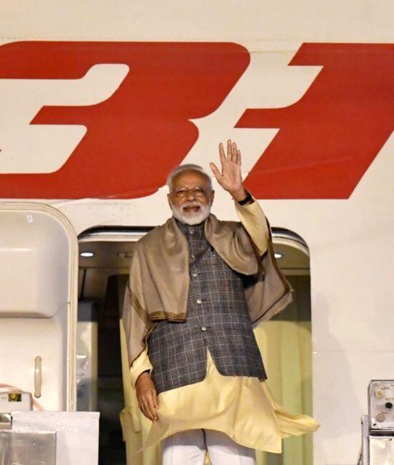 New Delhi: Prime Minister Narendra Modi emplanes for Seoul on a 2-day State Visit to the Republic of Korea, in New Delhi on Feb 20, 2019. (Photo: IANS/MEA) - Narendra Modi