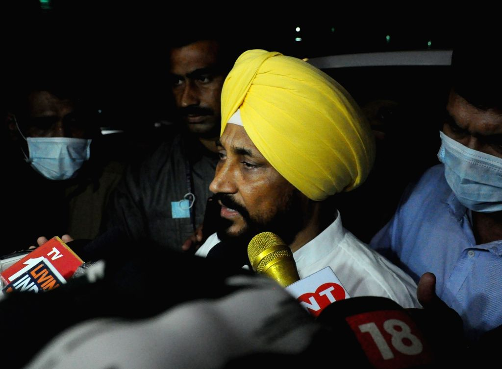 New Delhi:Punjab CM Charanjit singh Channi address to media after meet with Union Home Minister Amit Shah in new Delhi on Tuesday,October 05 2021. - Amit Shah