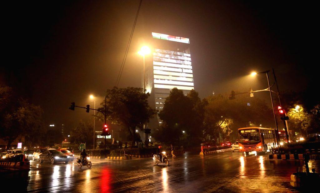 New Delhi: Rains lash New Delhi on Dec 12, 2019. (Photo: IANS)