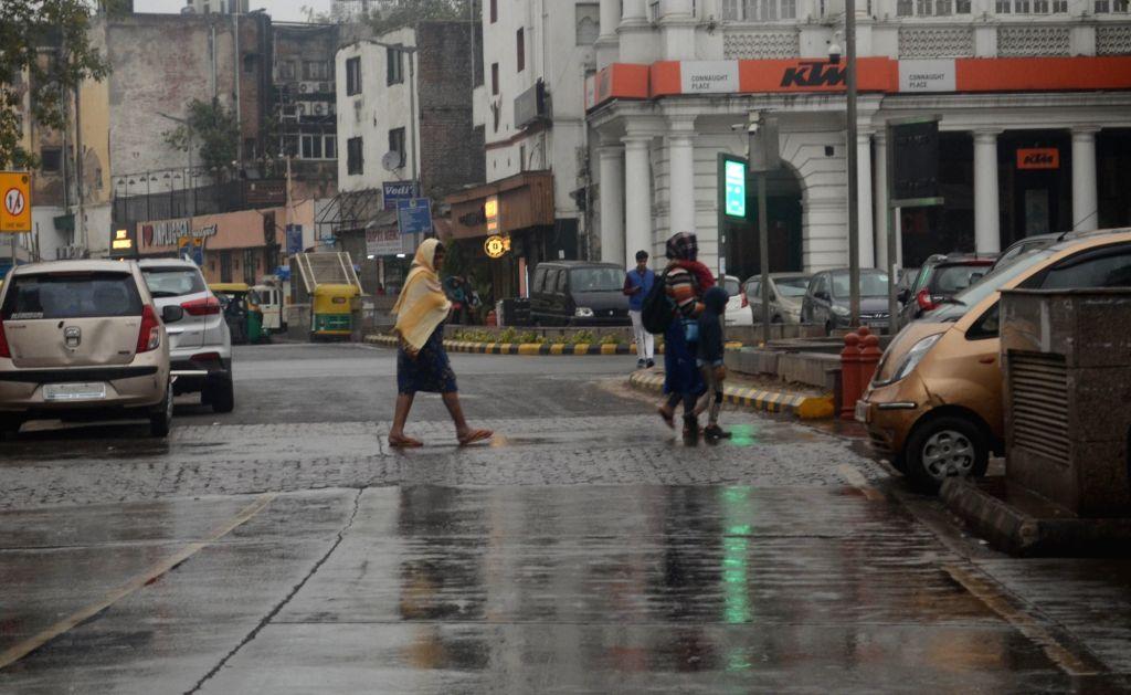 New Delhi: Rains lash New Delhi on Feb 7, 2019. (Photo: IANS)