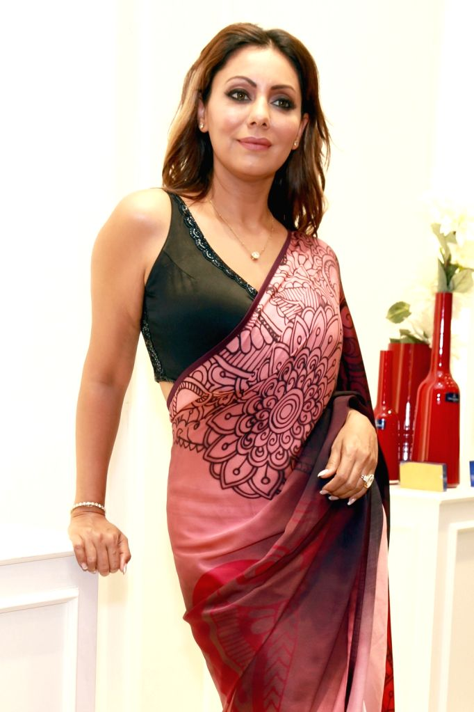 New Delhi: Red Chillies Entertainment co-founder Gauri Khan during the launch of the Satya Paul's Spring-Summer 2016 collection 'Cocktails and Dreams', in New Delhi on April 8, 2016. - Khan