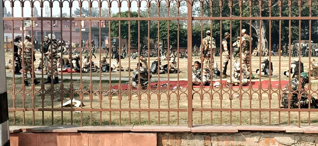 New delhi:  Red Fort, New Delhi closed after farmer's rally went violent on Republic Day, 26 January 2021 .
