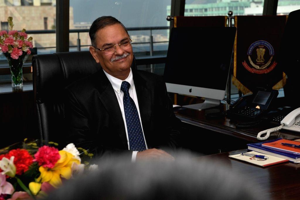 New Delhi: Rishi Kumar Shukla takes charge as the new CBI chief, in New Delhi on Feb 4, 2019. (Photo: IANS) - Rishi Kumar Shukla
