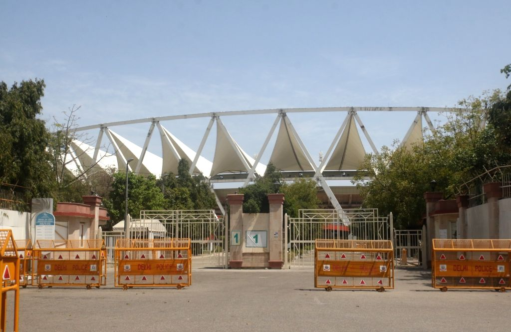 New Delhi's Jawaharlal Nehru Stadium that will be used as a quarantine facility to house patients infected by the COVID-19 (coronavirus) pandemic. The District Magistrate in its order to ...