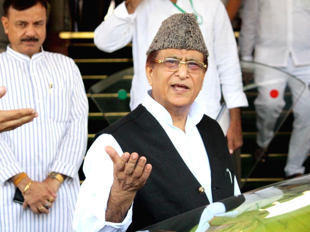 New Delhi: Samajwadi Party MP Azam Khan at Parliament, in New Delhi on June 20, 2019. (Photo: Amlan Paliwal/IANS) - Azam Khan