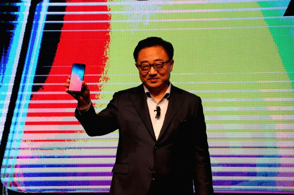 New Delhi: Samsung CEO Koh Dong-jin at the launch of Samsung Galaxy S10, S10+ and S10e smartphones in New Delhi, on March 6, 2019. (Photo: IANS)