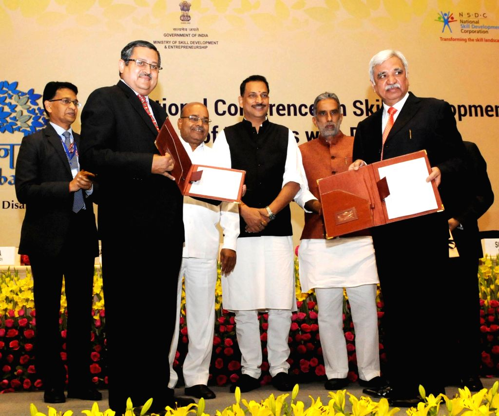 Secretary of Department of Empowerment of Persons with Disabilities, Lov Verma and the Secretary, Ministry of Skill Development and Entrepreneurship, Sunil Arora signed an MoU for ... - Lov Verma and Sunil Arora