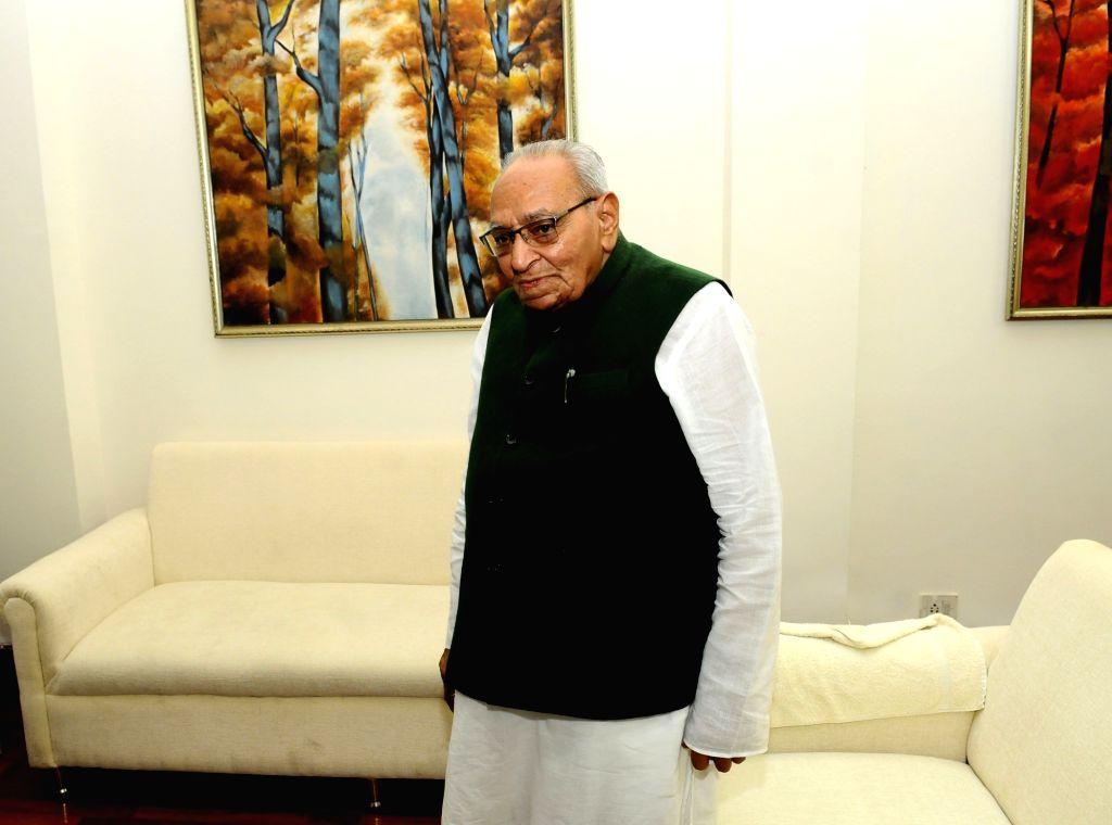 New Delhi: Senior Congress leader Motilal Vora at his residence in New Delhi, on July 3, 2019. (Photo: IANS)