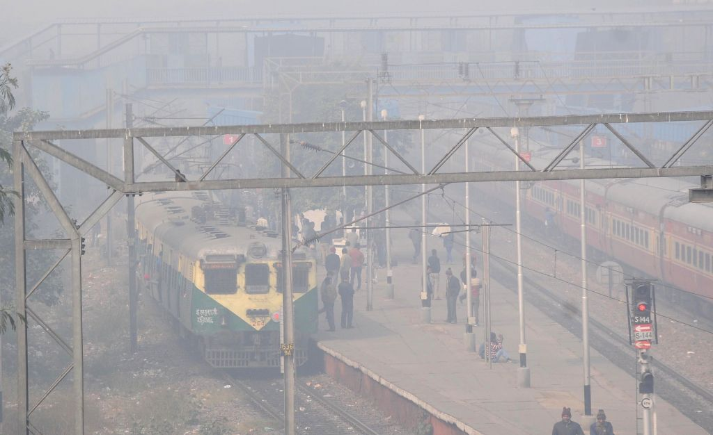 Seventy eight trains were delayed, 22 were rescheduled and six were cancelled due to the dense fog in the New Delhi on Dec 28, 2014.