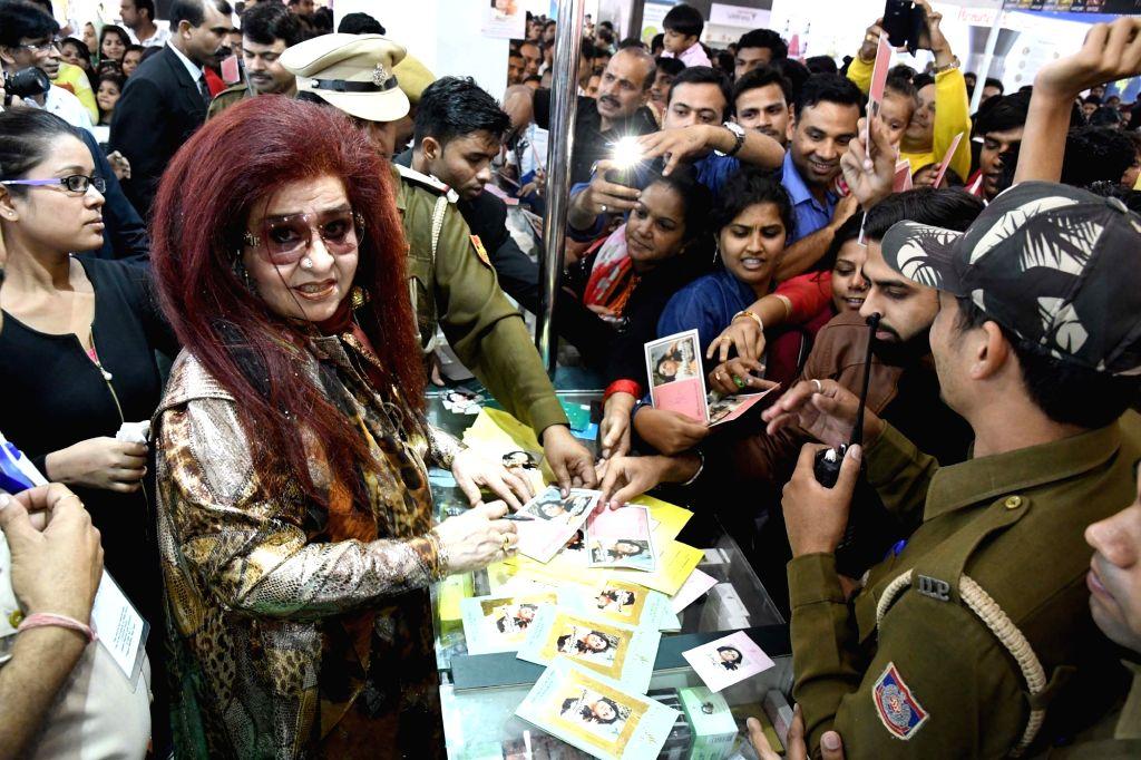 New Delhi: Shahnaz Herbals Inc. CEO Shahnaz Husain at the International Trade Fair (IITF)-2016 at Pragati Maidan in New Delhi on Nov 20, 2016.