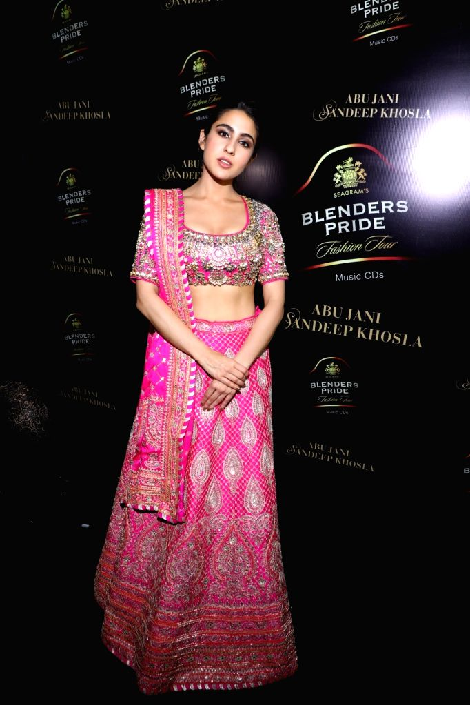 New Delhi: Showstopper Sara Ali Khan at the 15th edition of the Blenders Pride Fashion Tour 2019-20 in New Delhi. (Photo: IANS) - Sara Ali Khan