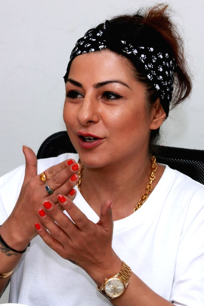 New Delhi: Singer-rapper Hard Kaur during an interview at IANS office in New Delhi on July 29, 2016. (Photo: Amlan Paliwal/IANS) - Kaur