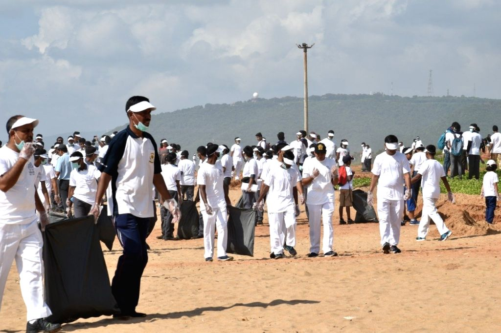 New Delhi: The Indian Coast Guard conducted a massive beach clean-up drive along the coastline of the country on Sep 21 on the occasion of International Coastal Cleanup Day. The International Coastal Cleanup Day is observed on the third Saturday of e