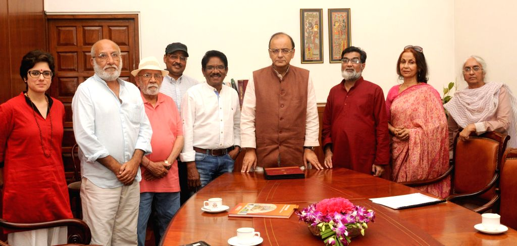 The Jury Members of the 62nd National Film Awards present the jury reports to the Union Minister for Finance, Corporate Affairs and Information and Broadcasting, Arun Jaitley, in New Delhi ... - Arun Jaitley