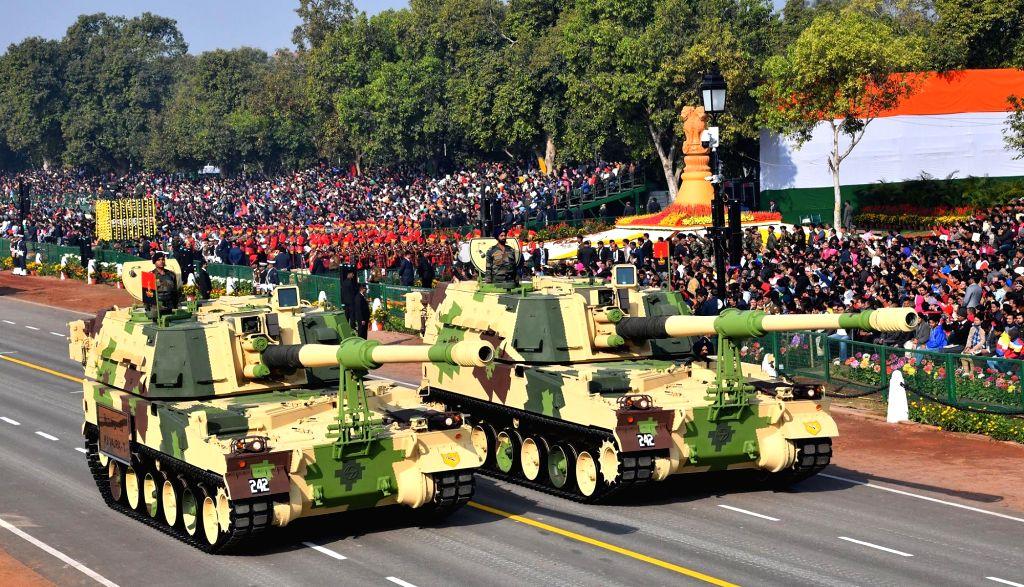 New Delhi: The K9 Vajra-T howitzer during 2019 Republic Day Parade at Rajpath in New Delhi on Jan 26, 2019. (Photo: IANS/PIB)