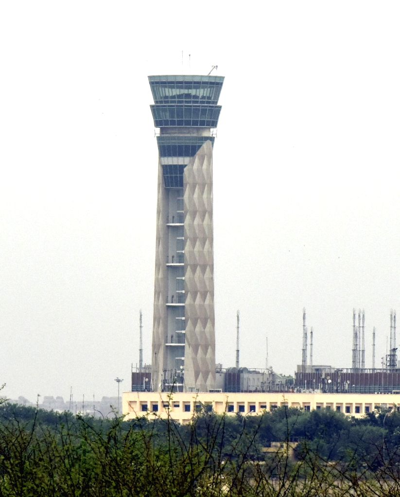 New Delhi:  The new Air Traffic Control tower that is being constructed at the Indira Gandhi International (IGI) Airport in New Delhi. (Photo: IANS) - Indira Gandhi International