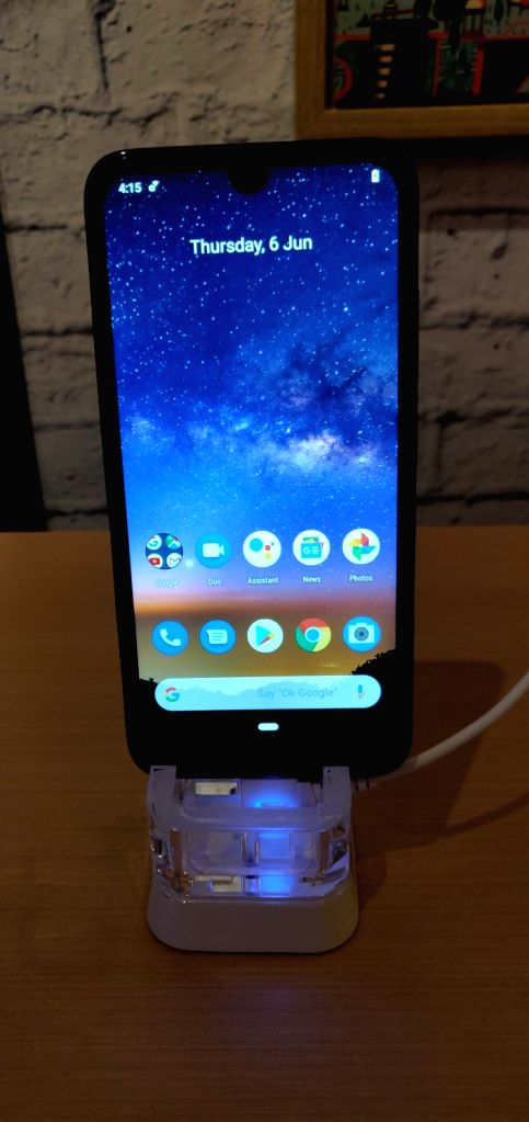 New Delhi: The newly launched Nokia 2.2 smartphone on display, in New Delhi on June 6, 2019. (Photo: IANS)