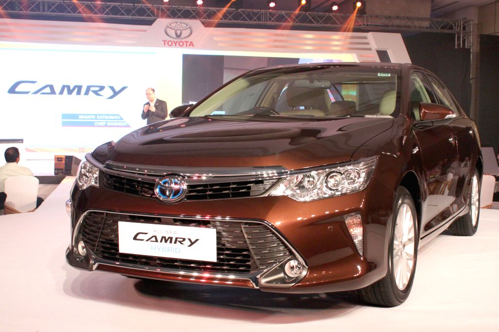 The newly launched Toyota Camry in New Delhi, on April 30, 2015.